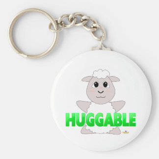 Huggable White Sheep Green Huggable Keychains