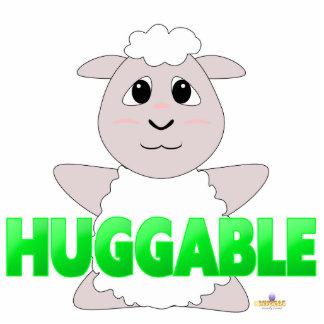 Huggable White Sheep Green Huggable Acrylic Cut Out