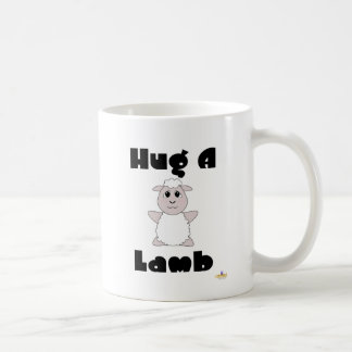 Huggable White Sheep Hug A Lamb Coffee Mug