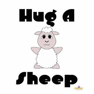 Huggable White Sheep Hug A Sheep Photo Cut Out