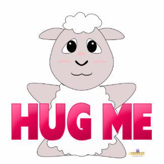 Huggable White Sheep Pink Hug Me Cut Outs