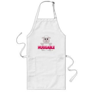 Huggable White Sheep Pink Huggable Long Apron