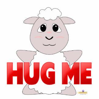 Huggable White Sheep Red Hug Me Photo Cutout