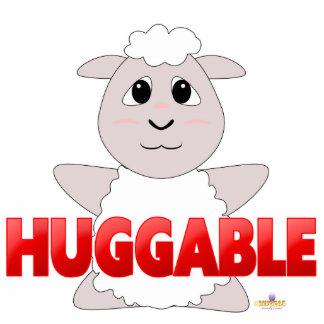 Huggable White Sheep Red Huggable Photo Cutouts