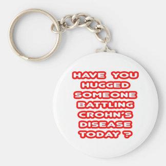 Hugged Someone Battling Crohn's Disease? Basic Round Button Key Ring