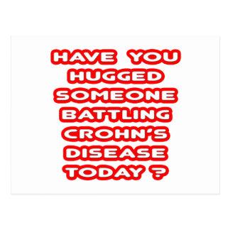 Hugged Someone Battling Crohn's Disease? Postcard