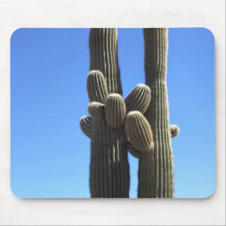 Hugging Cactus Mouse Pad