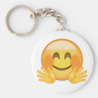 Hugging Face Emoji Key Ring