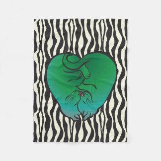 Hugging Kittens as a Heart, CraftiesPot Fleece Blanket