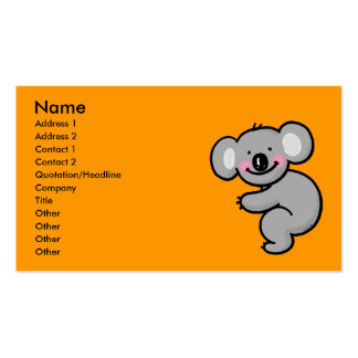 Hugging Koala bear Business Card Template