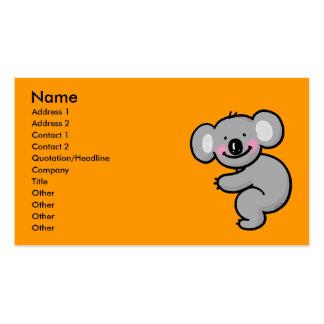 Hugging Koala bear Pack Of Standard Business Cards