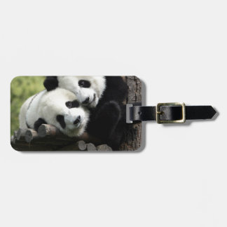 Hugging Pandas Luggage Tag