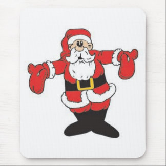 Hugging Santa Mouse Pad