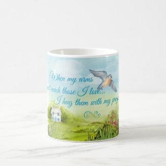 Hugging You With My Prayers Card Basic White Mug
