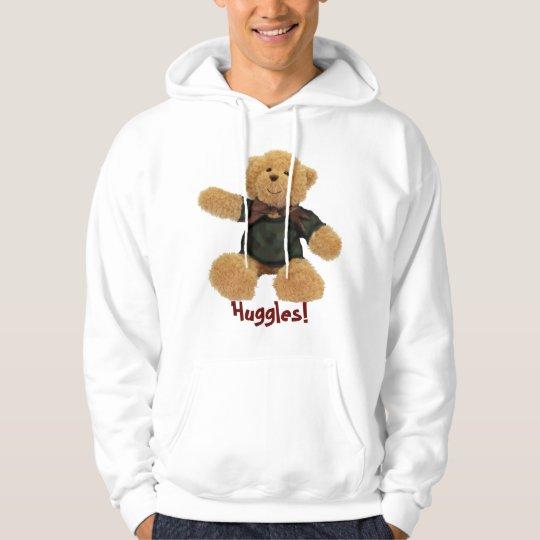 Huggles Cute Teddy Bear Girls' Hoodie