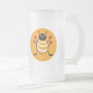 Huggy Bug Frosted Glass Mug