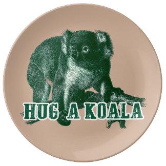 Hugh a Koala Porcelain plate