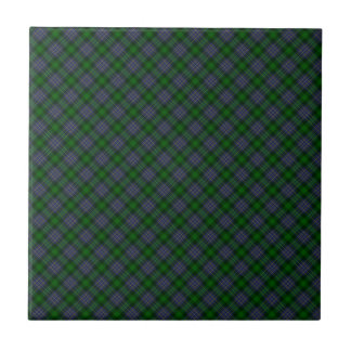 Hughes Clan Tartan Designed Print Small Square Tile