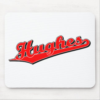 Hughes in Red Mouse Mat