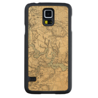 Hughes Military Map Of Richmond and Petersburgh Carved Maple Galaxy S5 Case