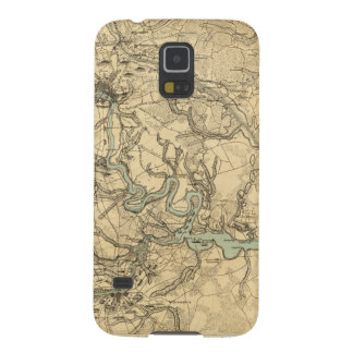 Hughes Military Map Of Richmond and Petersburgh Galaxy S5 Cover