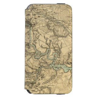 Hughes Military Map Of Richmond and Petersburgh Incipio Watson™ iPhone 6 Wallet Case