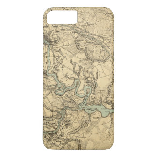 Hughes Military Map Of Richmond and Petersburgh iPhone 8 Plus/7 Plus Case