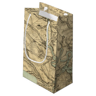 Hughes Military Map Of Richmond and Petersburgh Small Gift Bag