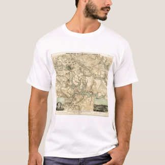 Hughes Military Map Of Richmond and Petersburgh T-Shirt
