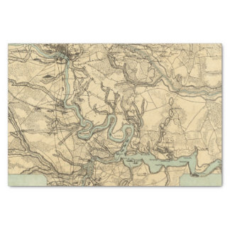 Hughes Military Map Of Richmond and Petersburgh Tissue Paper