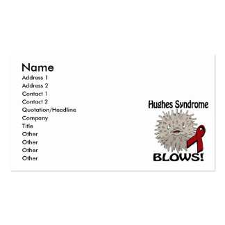 Hughes Syndrome Blows Awareness Design Pack Of Standard Business Cards
