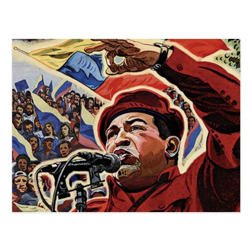 Hugo Chavez - Cartoon Revolution style Post Cards
