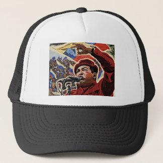 Hugo Chavez - Cartoon Revolution style Trucker Hat