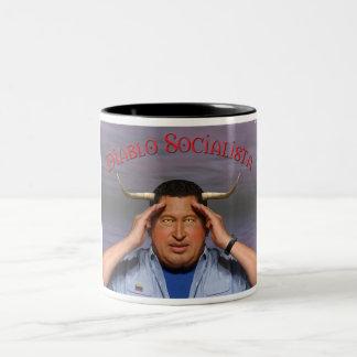 Hugo Chavez Two-Tone Coffee Mug