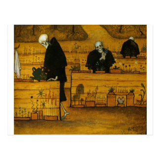 Hugo Simberg's Garden of Death Postcard