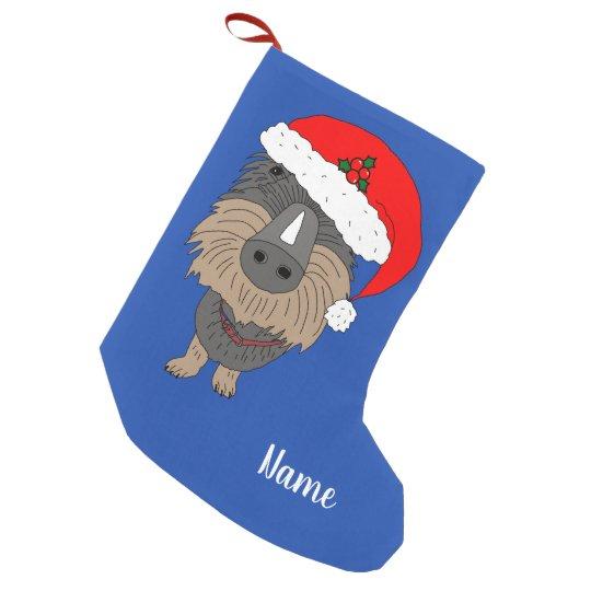 Hugo the sausage dog small christmas stocking