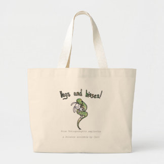 Hugs and Hisses from a four legged snake Large Tote Bag