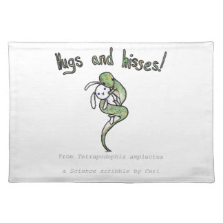 Hugs and Hisses from a four legged snake Placemat