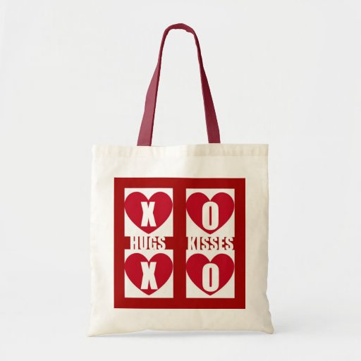 Hugs and Kisses Tote Bags