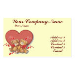 Hugs and Kisses Bears Business Card Template