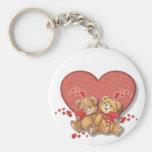 Hugs and Kisses Bears Keychains