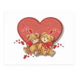 Hugs and Kisses Bears Postcards
