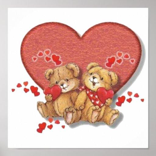 Hugs and Kisses Bears Poster