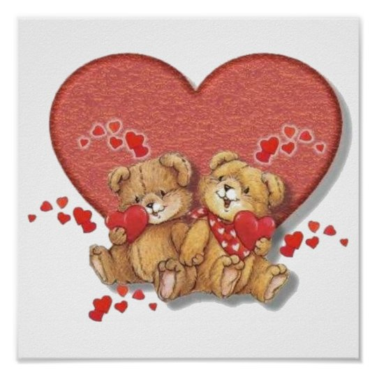 Hugs and Kisses Bears Poster