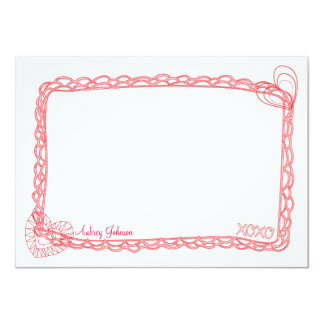 Hugs and Kisses Flat Note Cards