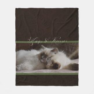 Hugs and kisses fleece blanket