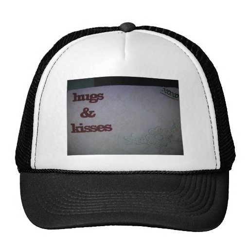Hugs and kisses trucker hats