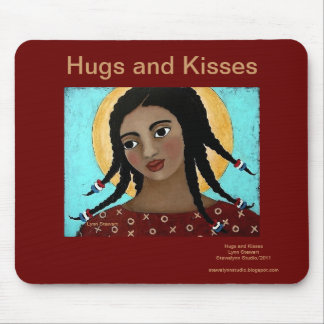 Hugs and Kisses Mouse Mat