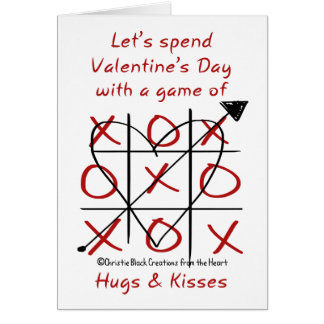 Hugs and Kisses Valentine-Tic Tac Toe Card