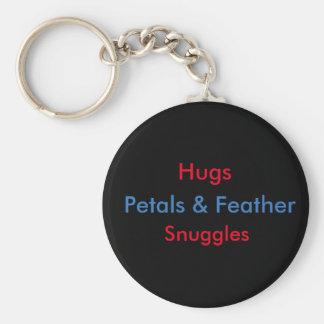 Hugs and snuggles key chain
